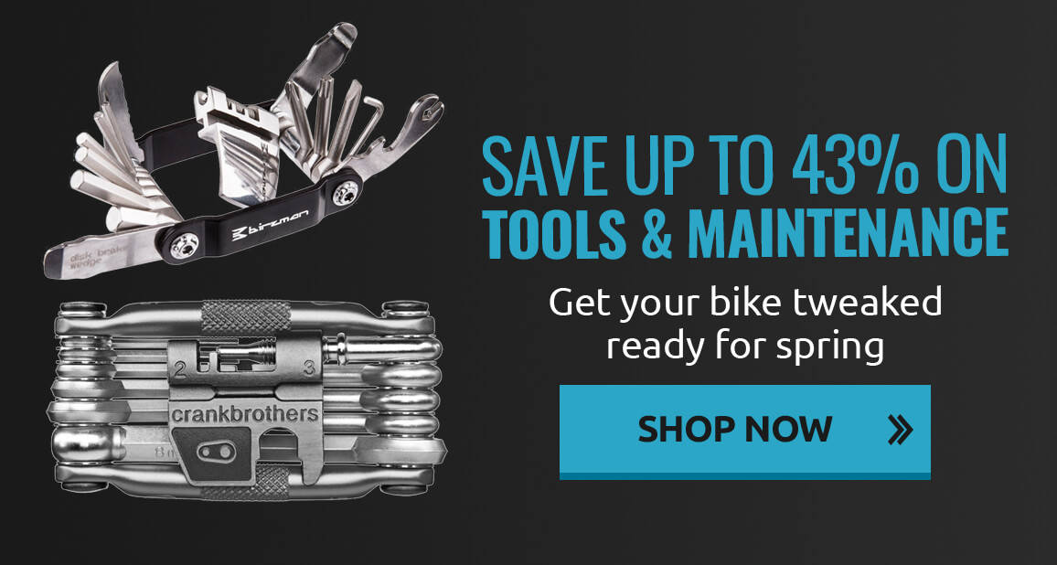 Get your bike tweaked ready for spring with up to 43% off tools!