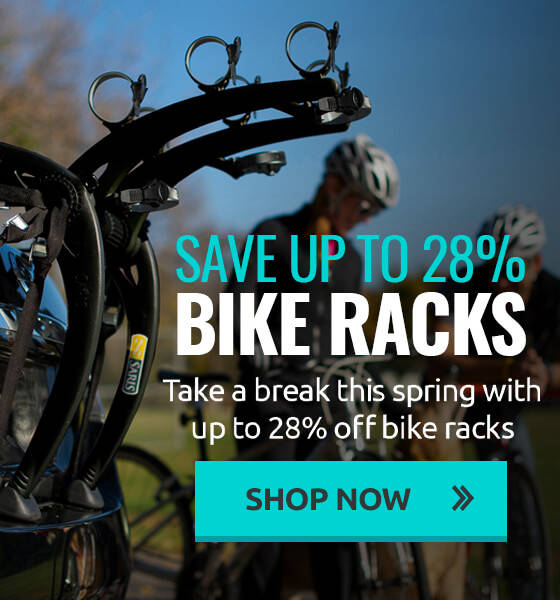 Take a break this spring with up to 28% off bike racks