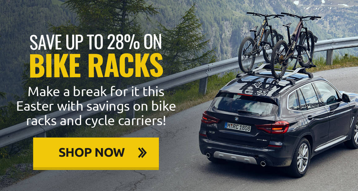 Up to 28% off bike racks and cycle carriers