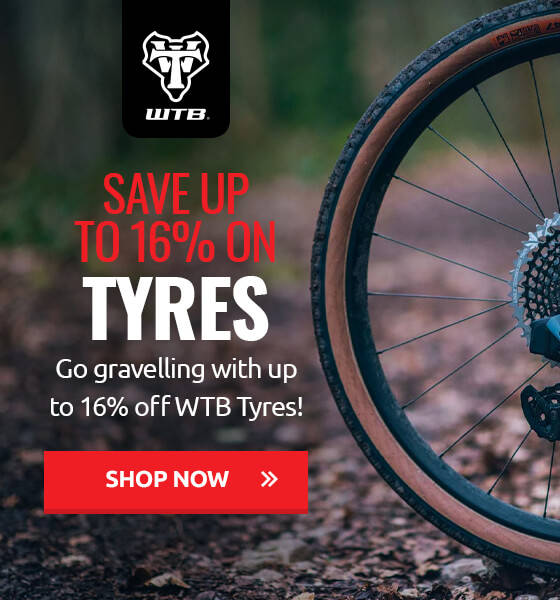 Go gravelling with up to 16% off WTB Tyres!
