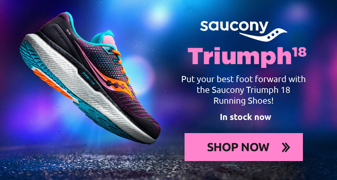 Put your best foot forward with the Saucony Triumph 18 Running Shoes!