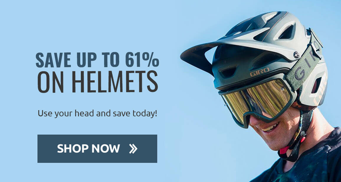 Save up to 61% on Helmets