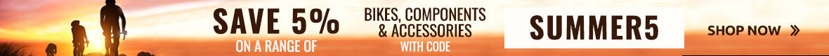 Save 5% on a range of Bikes, Components & Accessories