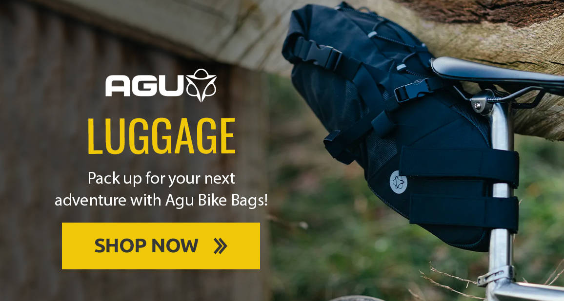 Pack up for your next adventure with Agu Bike Bags!