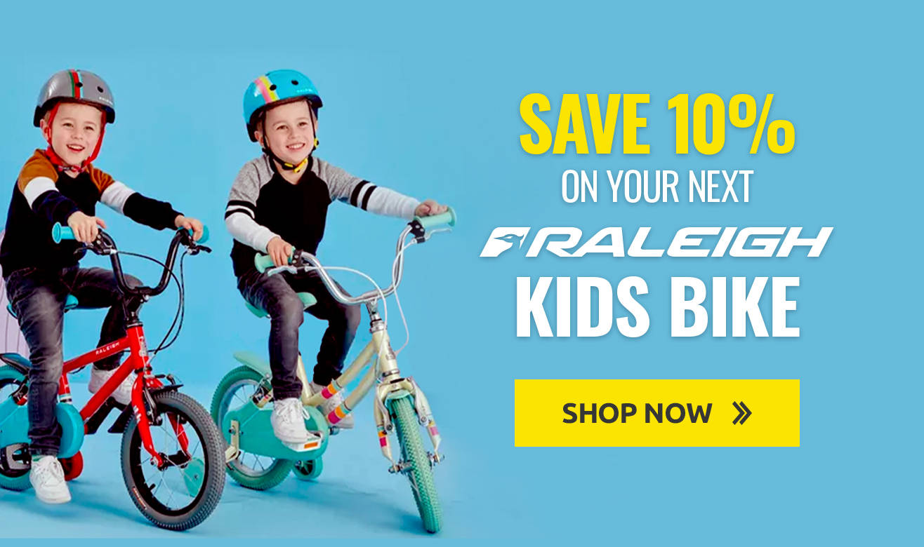 Save 10% on your next Raleigh Kids Bike