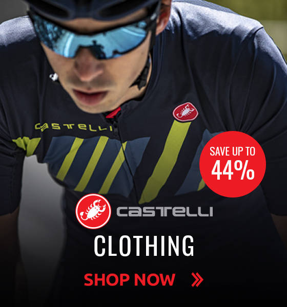 Save up to 44% on Castelli Clothing!